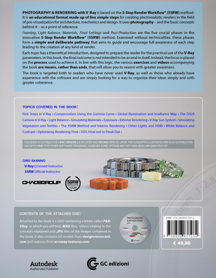 "Back cover of ""Photography and Rendering with V-Ray"""