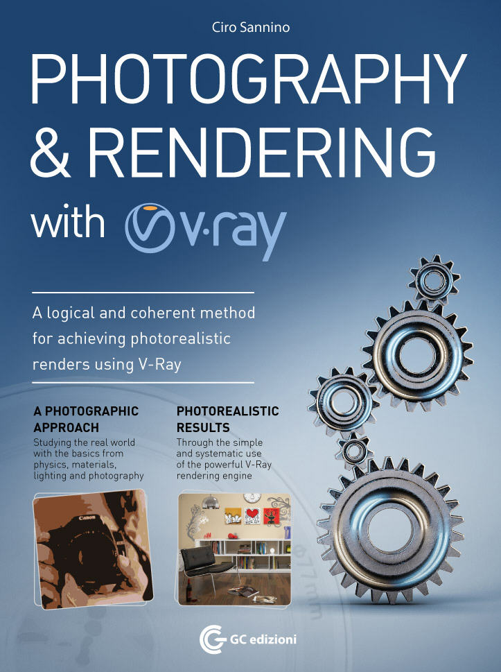 "Book cover for ""Photography and Rendering with V-Ray"" by Ciro Sannino"