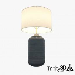 Trinity3D Ceramic Blue Lamp