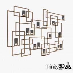 Trinity3D Wall Candle Holder