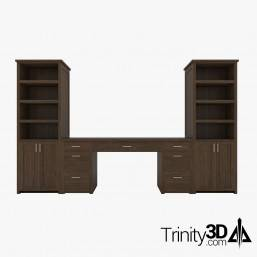 Trinity3D Desk and Cabinet...