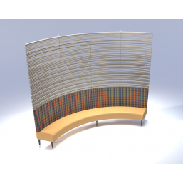 Trinity3D Rounded Dining Booth