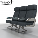 3D Airplane Chairs
