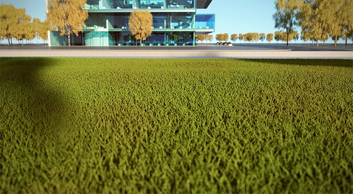 V-Ray 3 for SketchUp Grass