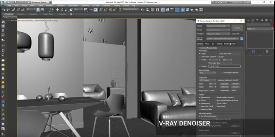 V-Ray 3.4 Denoiser Tutorial